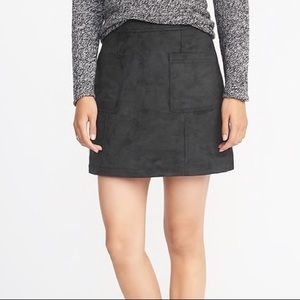 [Old Navy] Faux Suede A-Line Mini Skirt - Size 0